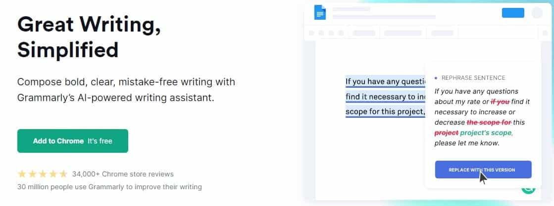 Grammarly - כלים לקידום עסקים